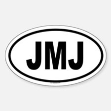 JMJ Oval Decal