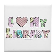 I (heart) My Library Tile Coaster
