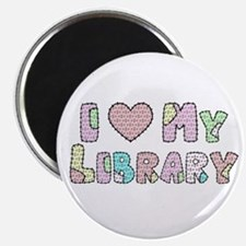 I (heart) My Library Magnet