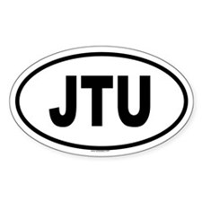 JTU Oval Decal