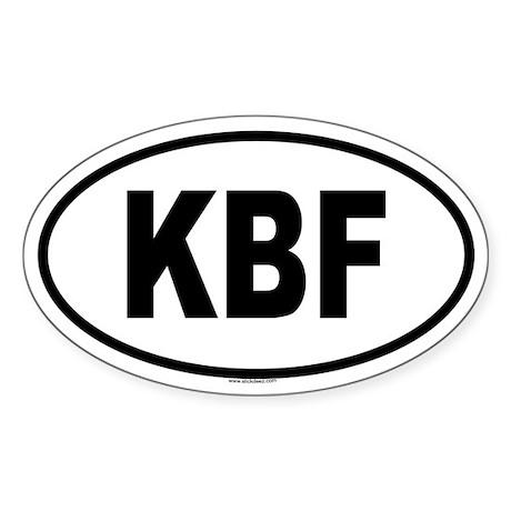 KBF Oval Sticker