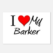 I Heart My Barker Postcards (Package of 8)