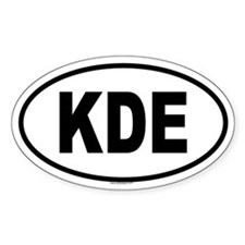 KDE Oval Decal