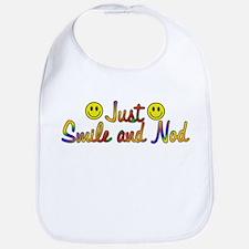 Smile And Nod Bib