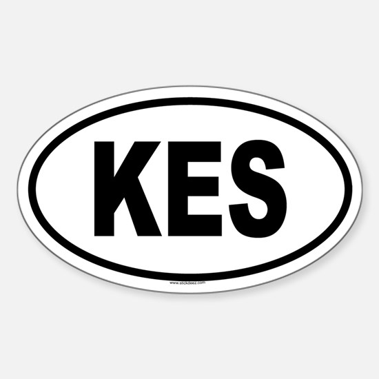 KES Oval Decal