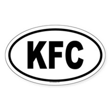 KFC Oval Decal