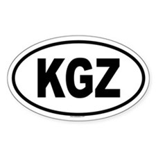 KGZ Oval Decal