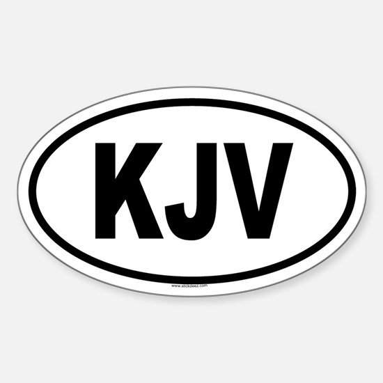 KJV Oval Decal