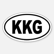 KKG Oval Decal