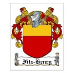Fitz-Henry Family Crest Small Poster