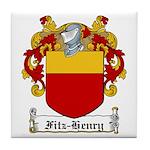 Fitz-Henry Family Crest Tile Coaster