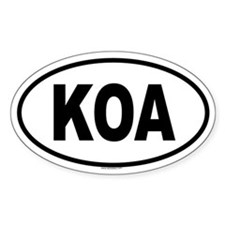 KOA Oval Decal