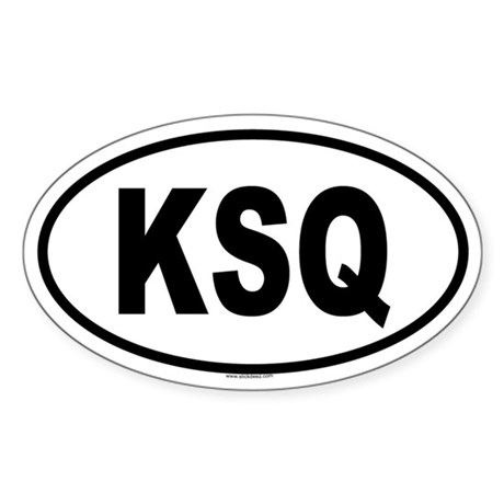 KSQ Oval Sticker