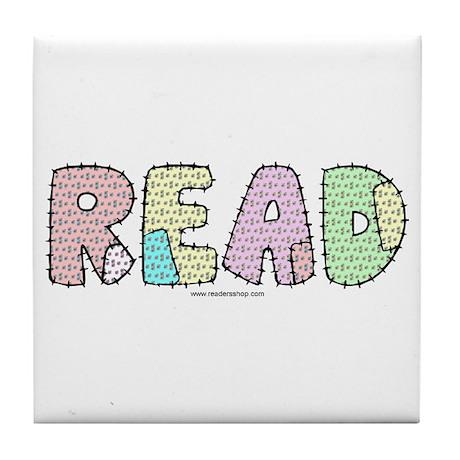 Read Patchwork Tile Coaster