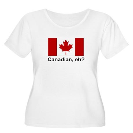 Canadian, eh? Women's Plus Size Scoop Neck T-Shirt