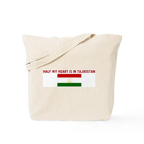 HALF MY HEART IS IN TAJIKISTA Tote Bag