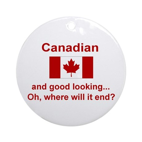 Gd Lkg Canadian Ornament (Round)