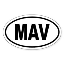 MAV Oval Decal