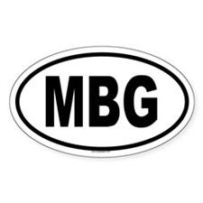 MBG Oval Decal
