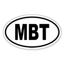 MBT Oval Decal