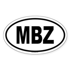 MBZ Oval Decal