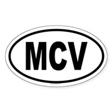MCV Oval Decal