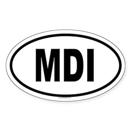 MDI Oval Sticker