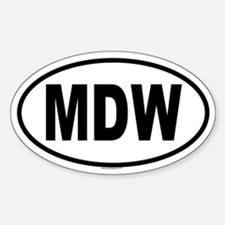 MDW Oval Decal