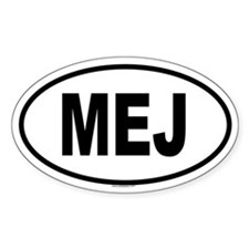 MEJ Oval Decal