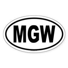 MGW Oval Decal