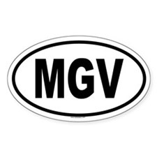 MGV Oval Decal