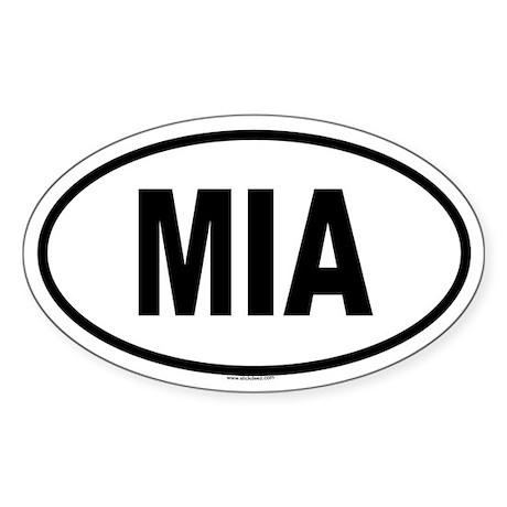 MIA Oval Sticker