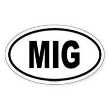 MIG Oval Decal