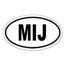 MIJ Oval Decal