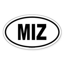 MIZ Oval Decal