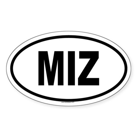 MIZ Oval Sticker