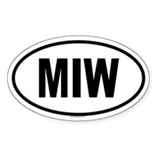 MIW Oval Decal