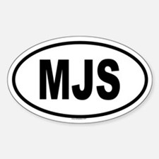 MJS Oval Decal