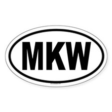 MKW Oval Decal