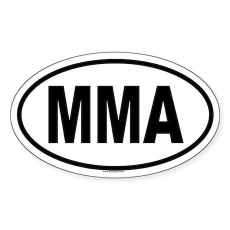 MMA Oval Sticker
