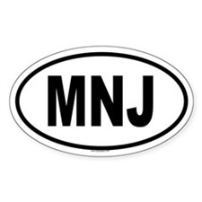 MNJ Oval Decal