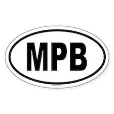 MPB Oval Decal
