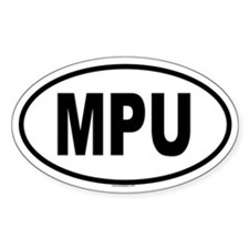 MPU Oval Decal