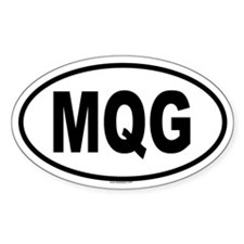 MQG Oval Decal