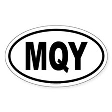 MQY Oval Decal