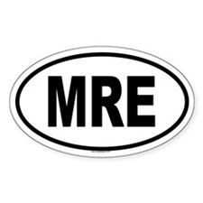 MRE Oval Decal
