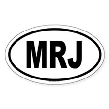 MRJ Oval Decal