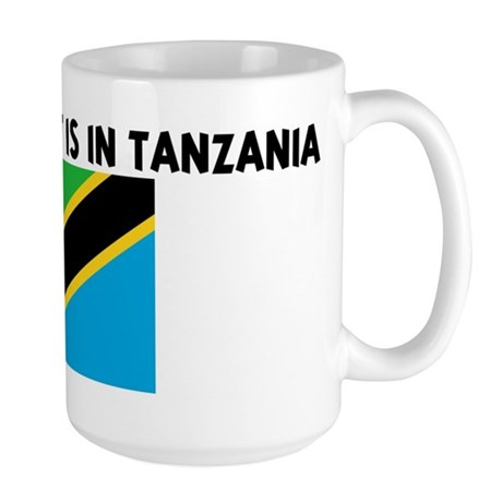 HALF MY HEART IS IN TANZANIA Large Mug