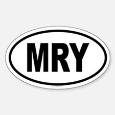 MRY Oval Decal