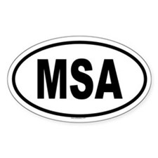 MSA Oval Decal